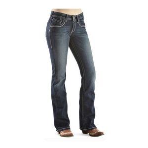 Ariat Turquoise High Kicks White Bootcut Jeans